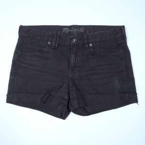 Madewell Womens Distressed Denim Shorts Raw Hem 27